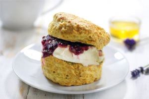 Devon cream tea scone jam cream